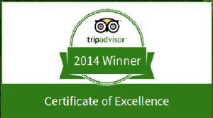 tripadvisor excellence certificate 2014