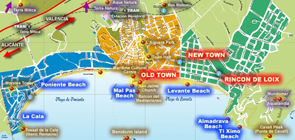 Where is Benidorm Things to do in Benidorm Costa Blanca Alicante