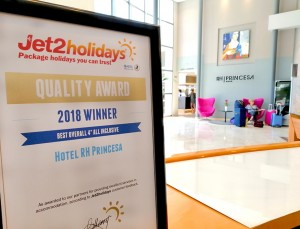 Jet2 Award for Hotel RH Princesa